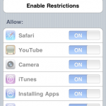 Restriction Options in iOS 4.2