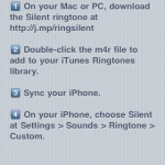 How to install the required silent ringtone