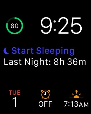 Apple Watch sleep modular face sleep++